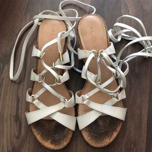 Aldo Leather heeled sandals